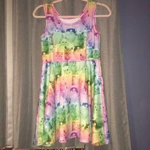 Rainbow Kitten Girls' Dress